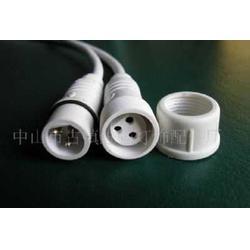 三芯防水接头三芯防水插头(护栏灯专用插头件)图片