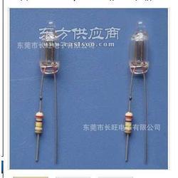 厂家直销氖灯 氖泡 指示氖灯-带电阻深加工图片