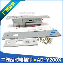 2线电插锁 超低温与延时电插锁 门禁电插锁 玻璃门锁图片