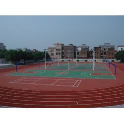 东莞篮球场塑胶跑道_塑胶跑道设施_菘茂体育图片