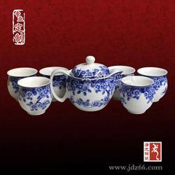 专业陶瓷手绘茶具定制厂家图片