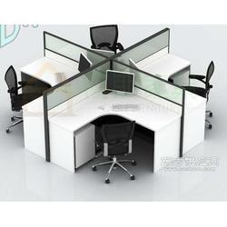 屏风隔断效果图 三人位屏风组合桌 办公屏风订做图片