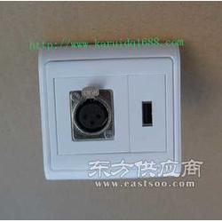 墙面插座带卡侬母座86面板PS302图片