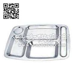供应不锈钢五格快餐盘 不锈钢快餐盘图片