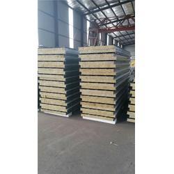 岩棉彩钢板、绿地钢构、岩棉彩钢板阻燃图片