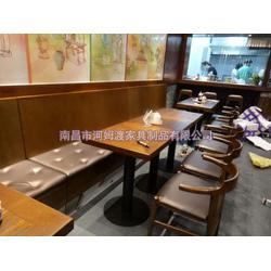 中西餐厅卡座沙发,宁国市卡座沙发,河姆渡快餐桌椅图片