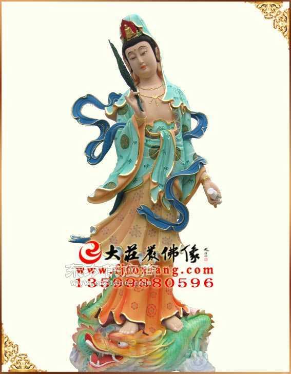 三十三观音木雕菩萨木雕彩绘厂家图片