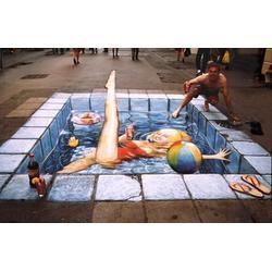 立体视觉手绘墙画设计,立体视觉手绘墙画,亚特美艺术图片