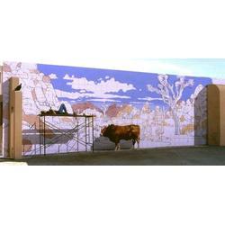 立体壁画工作室_黄石立体壁画_亚特美艺术图片