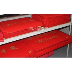 专业订制手工植字地垫 LOGO垫 广告垫 礼品 赠品地毯地垫图片