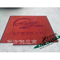 订制高档会所门口专用地垫,尼龙橡胶底地毯 LOGO地毯图片