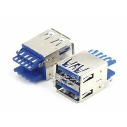 大量供应USB3.0 AF 180度焊线式 双弹 电脑连接器图片