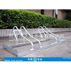 2个车位镀锌自行车电动车停车架图片