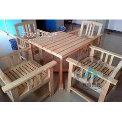樟子松防腐木户外休闲桌椅图片
