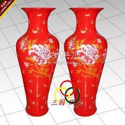 手绘陶瓷精品大花瓶定做图片