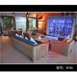 乌海户外桌椅 藤编户外桌椅 溥泽园家具(认证商家)图片