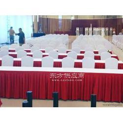 会议室桌布台呢椅套展会桌布酒店餐厅台布定做图片