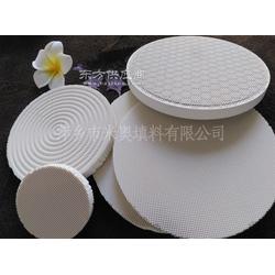 供应直径150mm六边形花纹圆孔陶瓷片燃气灶用红外线蜂窝陶瓷片图片