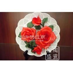 礼品瓷 工艺瓷 精美瓷花盘 挂盘 定制花盘装饰图片