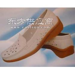 护士鞋 夏天凉鞋 女式 坡跟 白色 医院工作鞋图片