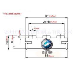 CT三排08B链条导轨标准尺寸图片