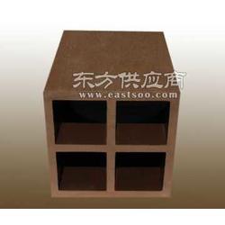 户外环保建材PE木塑100100立柱带方孔图片