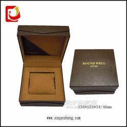 厂家专业生产咖啡色塑料手表盒 PU皮精质手表包装盒图片