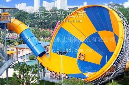 潮流水上乐园设备大喇叭水滑梯图片