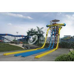 潮流集团厂家定制水上设备水上乐园安全设备大型冲天回旋滑梯水滑梯设备图片