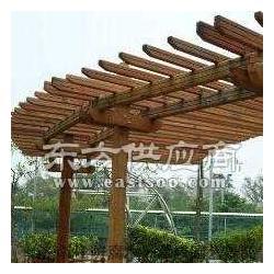 防腐木花架/碳化木花架/塑木花架图片