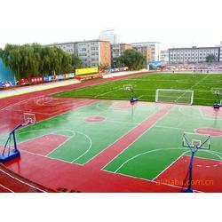 松原硅PU球场|硅PU球场照明|亚强体育丙烯酸蓝球场图片