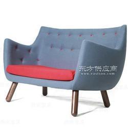 双人位椅子雅帝塘鹅椅布艺沙发图片