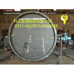 圆形脱硫挡板门-脱硫挡板门-河北科正-挡板门生产(查看)图片