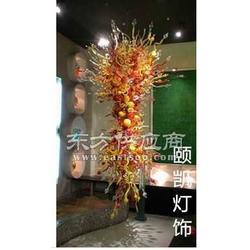 艺术玻璃吊灯厂家手工吹制玻璃吊灯图片