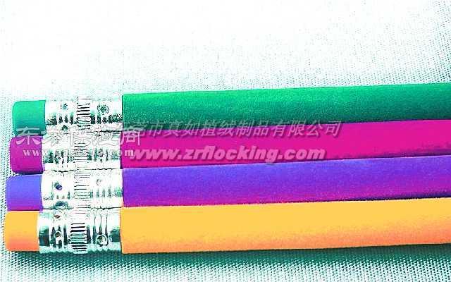 臻茹植绒厂植绒加工时尚植绒铅笔