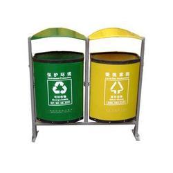 莱芜垃圾桶,双筒垃圾桶,优质垃圾桶明鑫交通(认证商家)图片