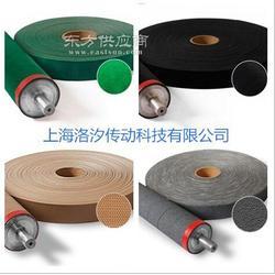 长期供应绿绒布防滑 背胶绿绒包辊带厂家图片