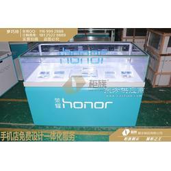 第二代新款蓝色荣耀手机柜台尺寸,荣耀全品店展台生产厂家图片