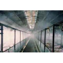 中山喷雾降温设备_贝克喷雾厂家_广场喷雾降温设备图片