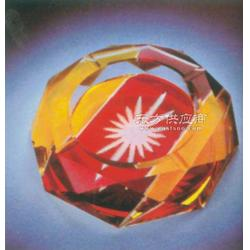 水晶厂家销售办公烟灰缸摆件水晶烟灰缸礼品图片