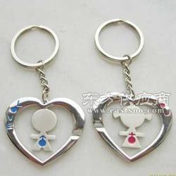 情侣钥匙扣浪慢情侣匙扣心形烤漆匙扣图片