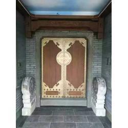 邹城别墅门-大海铜门优惠-中式别墅门头图片
