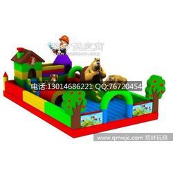 儿童充气城堡挣钱吗丨熊出没充气大滑梯图片