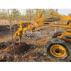 挖坑机使用图片