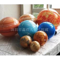 定制亚克力八大行星教学展示球体 有机玻璃八大行星球装饰教学球图片