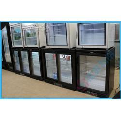 卧式冰箱冰柜双门玻璃门酒吧台式商用冰箱 啤酒饮料柜冷藏展示柜图片