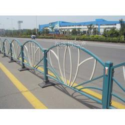 镀锌钢质表面静电喷涂市政道路护栏图片