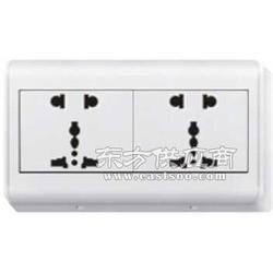 118开关插座面板厂家 二位二极带多功能插座图片