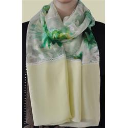 竹之意品牌真丝织花长巾、长巾、汇佳纺织图片