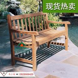 菠萝格公园椅 户外实木长条椅 防腐木长椅 休闲广场椅 柚木长椅图片